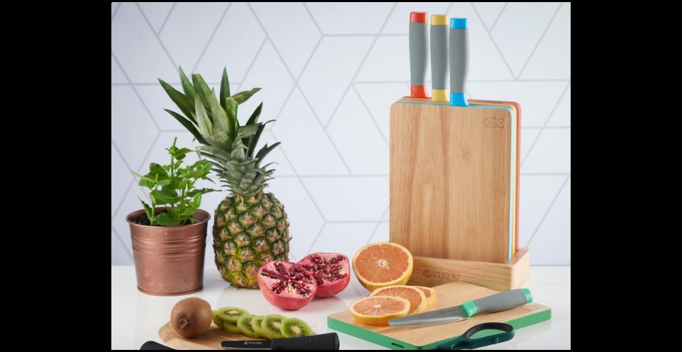 Assure Knife Block and Board Set