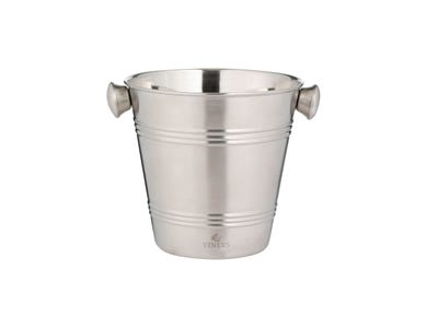 Barware 1 Litre Silver Single Wall Ice Bucket