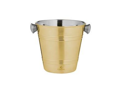 Barware 1 Litre Gold Single Wall Ice Bucket